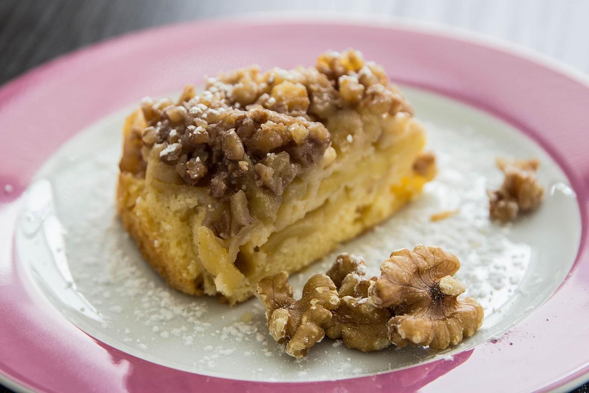 Apfel Walnuss Kuchen Backliebe Com