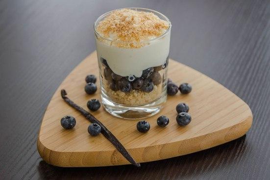 Kokos Heidelbeer Trifle