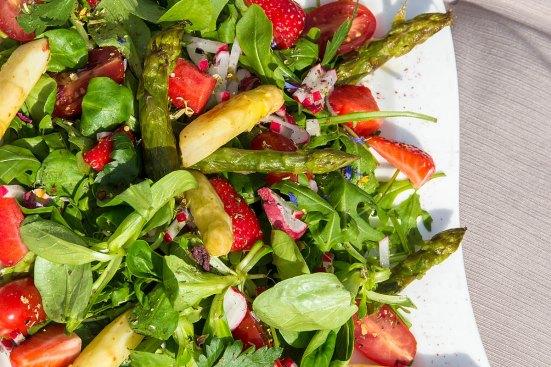 Spargel Rucola Salat